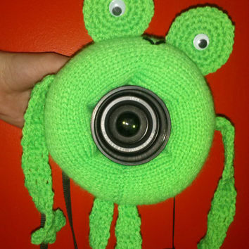 Camera Cover, Photographer Equipment, Photographer Accessory, Colorful Camera Cover, Frog Cover, Lens Buddy