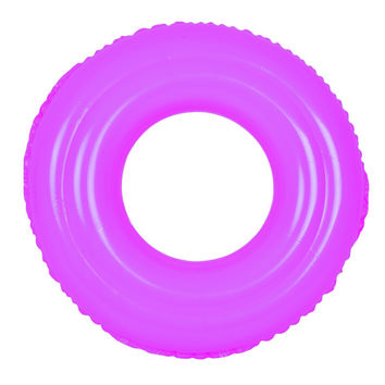 """35"""" Classic Round Pink Inflatable Swimming Pool Inner Tube Ring Float"""