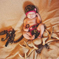 Baby Girl Camo Outfit for photo props, Newborn pictures, first months