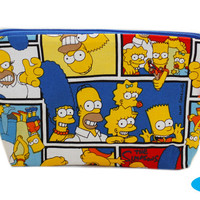 NEW Simpsons Makeup Bag | Makeup Organizer | Zipper Bag | Cosmetic Case | Bart Simpson | Homer Simpson | Maggie Simpson | Lisa Simpson