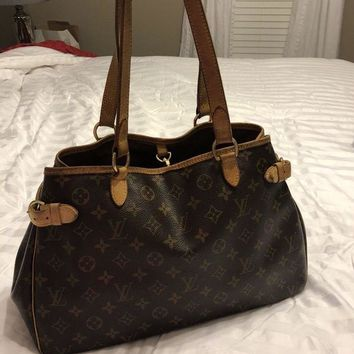 DCCKRQ5 LOUIS VUITTON BATIGNOLLES HORIZONTAL MONOGRAM LEATHER SHOULDER BAG HANDBAG PURSE