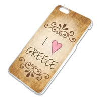 I Heart Love Greece Vintage iPhone 6 Plus Slim Fit Case
