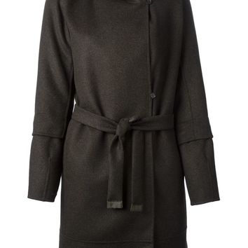 Max Mara removable lining hooded wrap coat