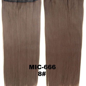 """Wig,Hair Extension,Clip in synthetic hair extension,5 clips ponytail,Heat resistance synthetic fibre,MIC-666 8#,100 g 24 """" 1PCS"""