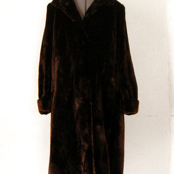 REAL SEAL FUR 1950s Incredible Full Length by GuermantesVintage