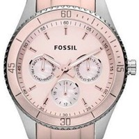 Fossil Stella Multi-Function Blush Aluminum and Stainless Steel Ladies Watch ES3037