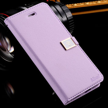 Brand Ailun Luxury Leather Case for iphone 6 6S 4.7 for i6 /6s Plus 5.5  Wallet Stand Flip Phone Bag Cover Cute With Card Slot