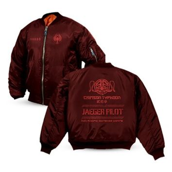 Pacific Rim Crimson Typhoon Bomber Jacket