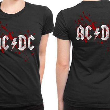 ESBH9S ACDC Blood 2 Sided Womens T Shirt
