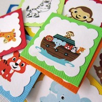 Noah's Ark Party Tags for Birthday or Baby Shower