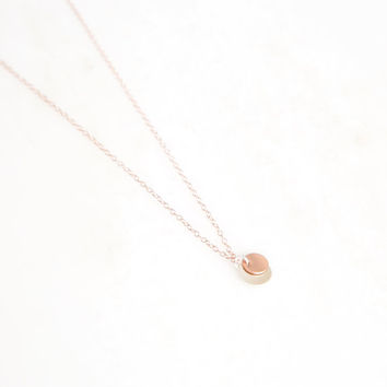 GOOD THING rose gold disk necklace. layer necklace. everyday necklace. bridesmaid necklace. psalm 84:11. miscarriage gift. sympathy gift.