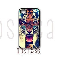 Tiger Roar Cross Hipster Quote  iPhone 5 Case  Fits iPhone 5