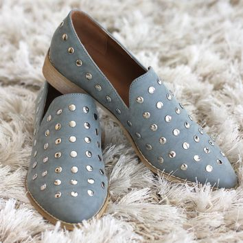 All Stud Pointed Toe Flat