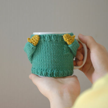 Cozy Mug Sweater in Mint Green by mugsweater on Etsy