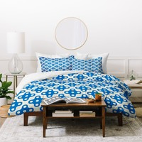 Holli Zollinger Four Dot Blue Duvet Cover