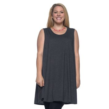 Women's Plus Size Scoop Neck Tank Top Made in USA 1X 2X 3X 4X