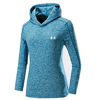 UNDER ARMOUR Women Men Lover Top Sweater Hoodie Blue