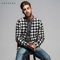 Long Sleeve Casual Black Plaid Shirt Men Blouse Autumn Fashion Flannel Check Shirt Male