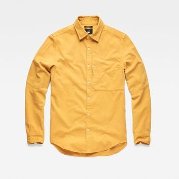 Bristum Ref Straight Shirt | Saffron | G-Star RAW®