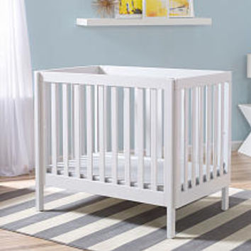 BabieRus - Delta Children Bennington Elite Mini Crib with Mattress - White