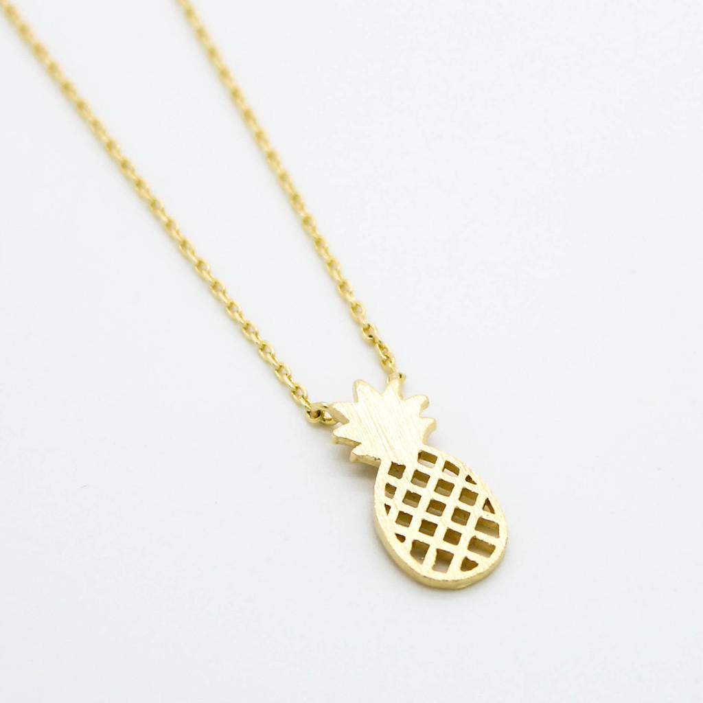 Dainty 14k Gold Pineapple Necklace From Bikini Luxe