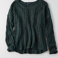 AEO Open Knit Sweater, Teal