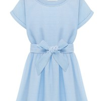 Azure Bowknot Dress - OASAP.com