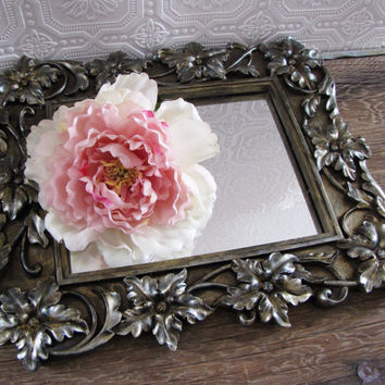 Ornate Wall Mirror Metallic Gold Antique Style Wall Decor 13x15