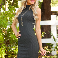 Catarina Dress in Charcoal