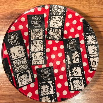 Handmade 8 inch Round Decorative Fabric Backed Betty Boop Glass & Shop Decorative Glass Plate on Wanelo