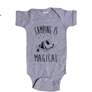 Camping Is Magical Baby Onesuit