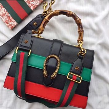 GUCCI Fashion Retro Ladies Leather Crossbody Satchel Handbag Tote Satchel Shoulder Bag H-MYJSY-BB