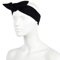 River Island Womens Black lace wire wrap headband