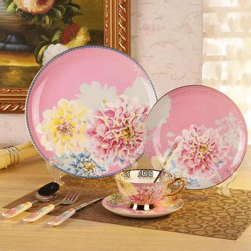 Korean Dinnerware Set Bone China Tableware Dishes And Plates Ceramic  Porcelain Dinner Sets