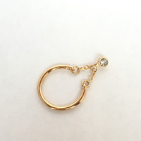 Dangle The Crystal Midi Knuckle Ring In Gold