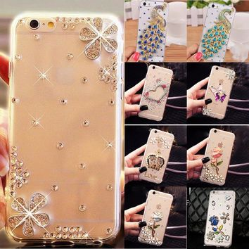 Glitter Rhinestone Case Cover For Samsung galaxy A520/A5 2017, Acrylic mobile phone shell Cover Diamond Phone Cases