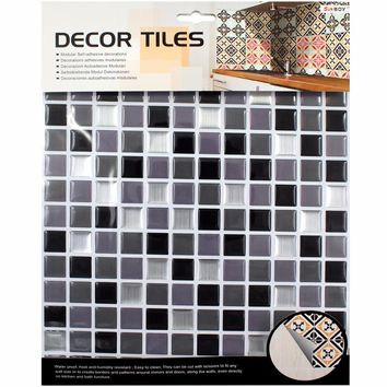 Kitchen bathroom special 3D wallpaper mosaic waterproof Size 10*10(in) tile Toilet decoration personality PVC drip wall stickers