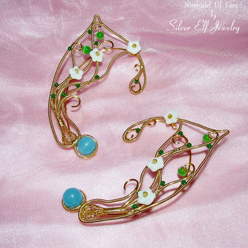 Nimrodel Elf Ears, LOTR Elf Ears, Elf Earrings, Fantasy Earrings, no piercing earrings, wire ear cuff, elf ear wrap, Cosplay jewelry