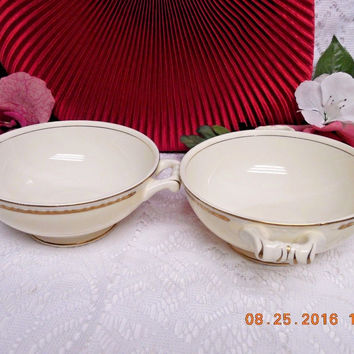 Homer Laughlin China Dinnerware Viceroy, Eggshell Georgian #G3571- 2 cream soup