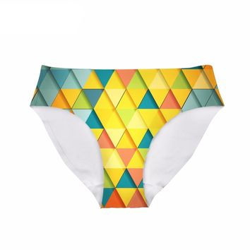 Yellow Colored Triangle - Women's Underwear Panties