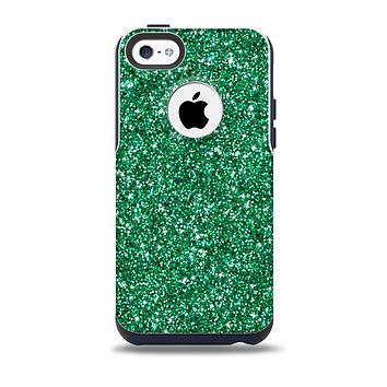 The Green Glitter Print Skin for the iPhone 5c OtterBox Commuter Case