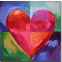 Big Heart Canvas Wall Art