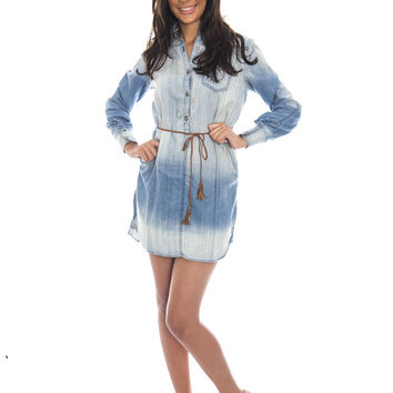 Faded Denim Dress