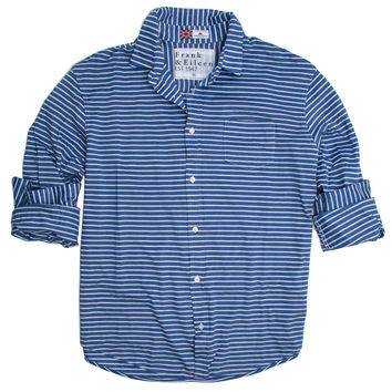 Frank & Eileen Luke Light Blue Stripe Shirt