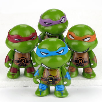Teenage Mutant Ninja Turtles Figuras 7cm 4pcs/set Action TMNT Figures Toys For Kids Christmas Gift Dolls Brinquedos Juguetes