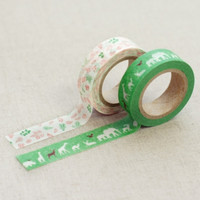 Animal Life Washi Tape Set