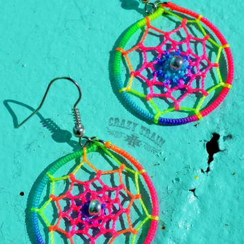 Neon Dreamcatcher Earrings by Crazy Train