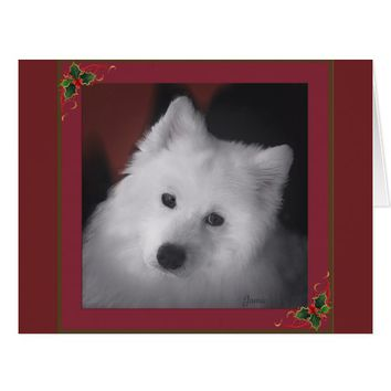 Samoyed Supersize Card; Available in 2 Smaller Ver Card