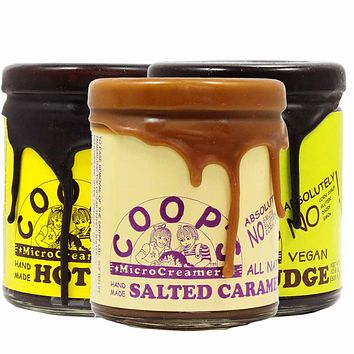 Coop's Handmade Hot Fudge, Vegan Hot Fudge & Caramel Set