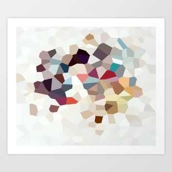 Africa Geometric Abstract Art Print by wtfineart
